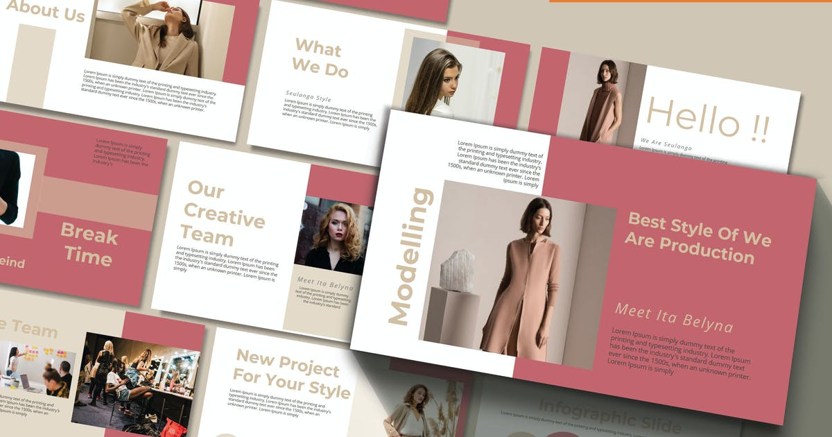 Download SEULANGA - Fashion Powerpoint Template by joelmaker