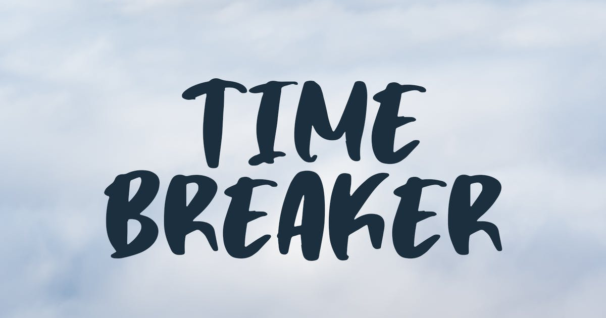 Download Time Breaker - Bold Matte Brush by Motokiwo