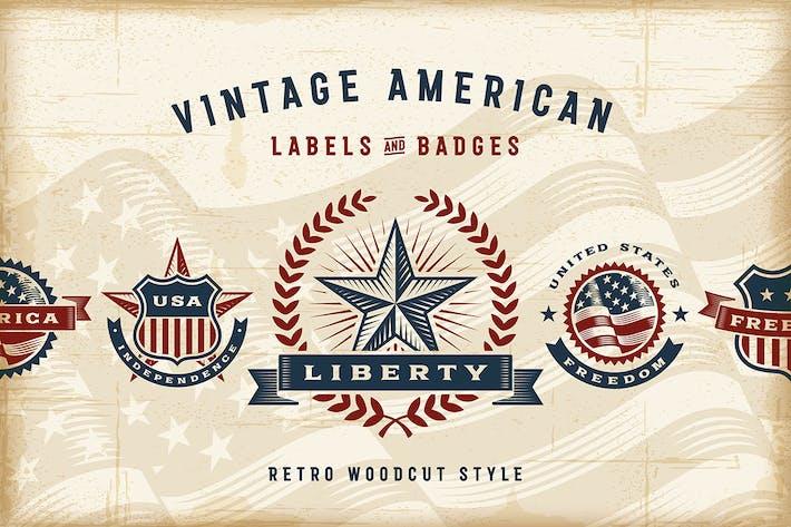 Thumbnail for Vintage American Labels Set