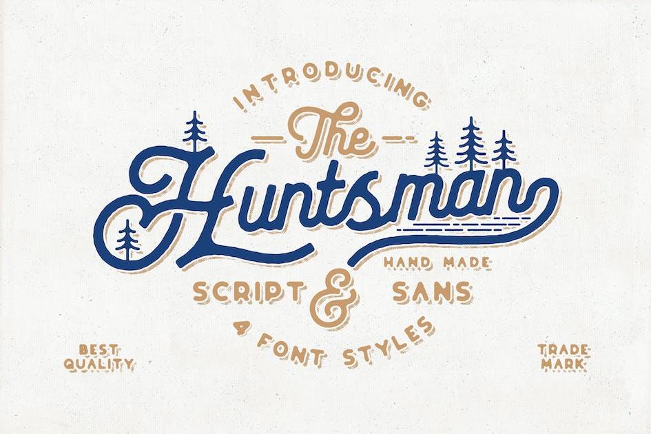 Download The Huntsman Script Vintage Typeface Ver.1 by NEWFLIX