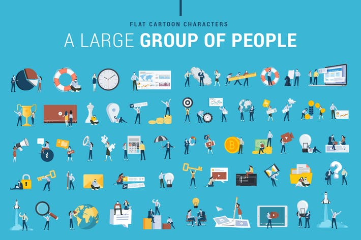 Thumbnail for Flat Design Business People Icons