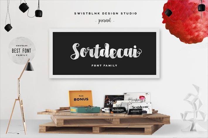 Thumbnail for Sortdecai Font Family