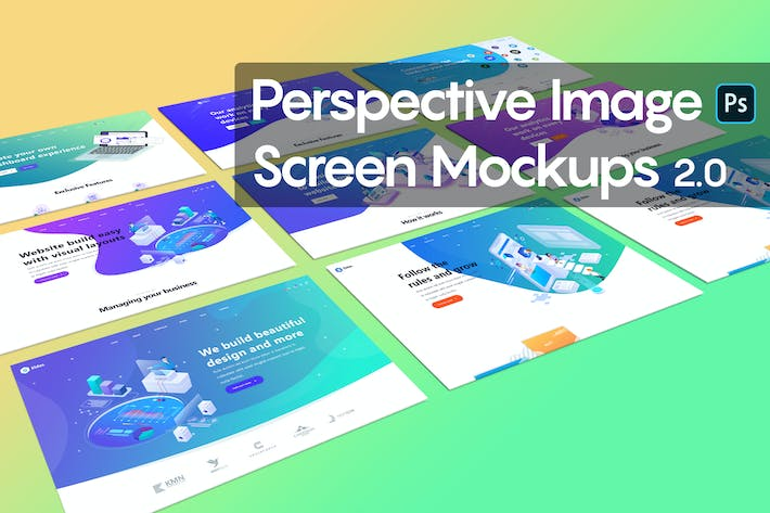 Thumbnail for Perspective Image Screen Mockups 2.0
