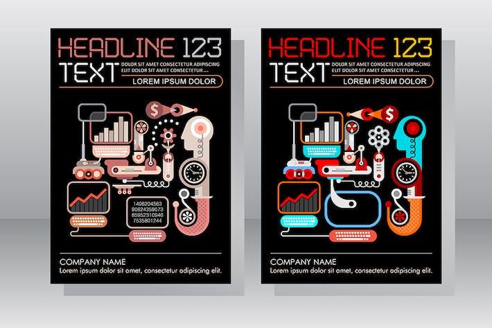 Thumbnail for E-commerce Business Leaflet Template Design