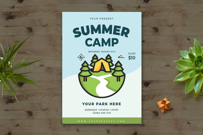 Thumbnail for Summer Camp Flyer vol.1
