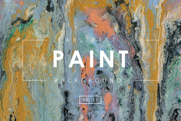 Abstract Paint Backgrounds Vol. 15