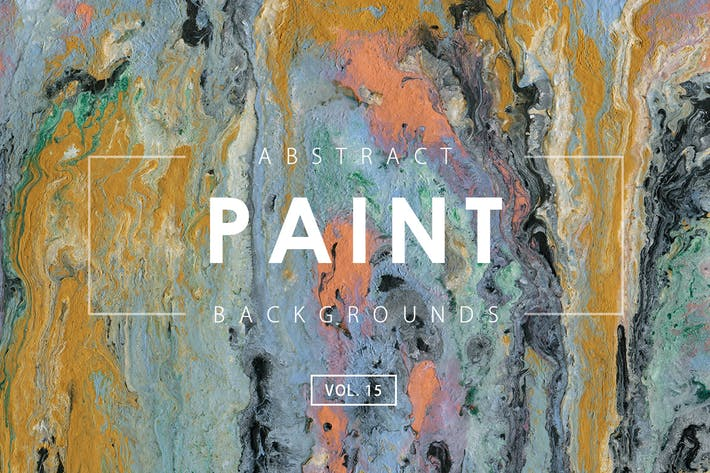 Cover Image For Abstract Paint Backgrounds Vol. 15