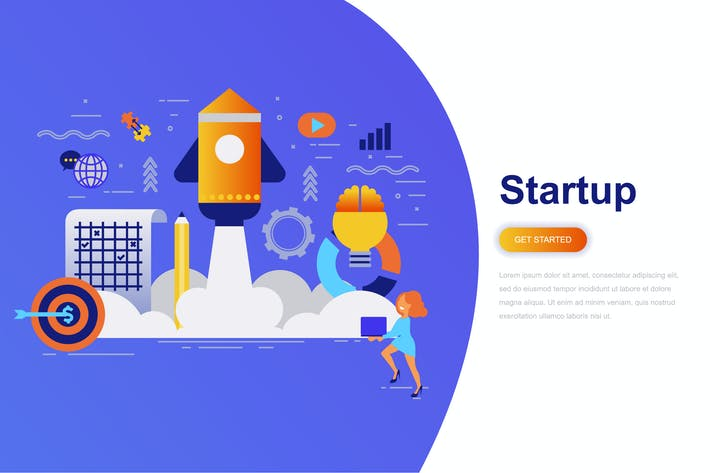 Thumbnail for Business Startup Modern Flat Concept