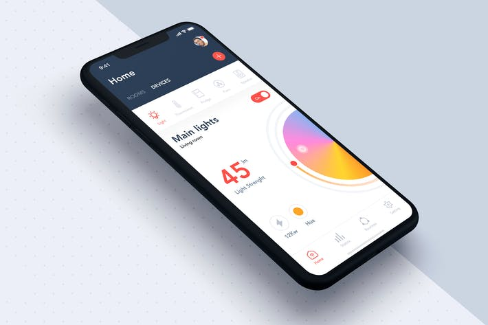 Thumbnail for Smart Home App UI Concept