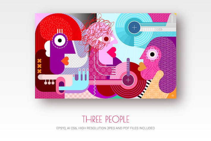 Thumbnail for Three People vector illustration
