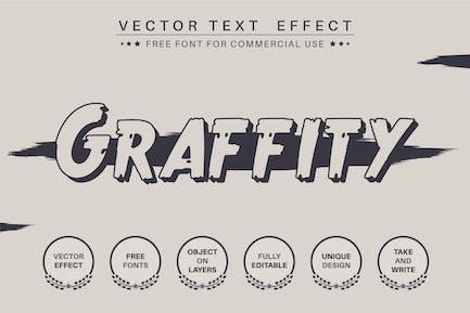 Темные граффити - редактируемый текстовый эффект, стиль шрифта