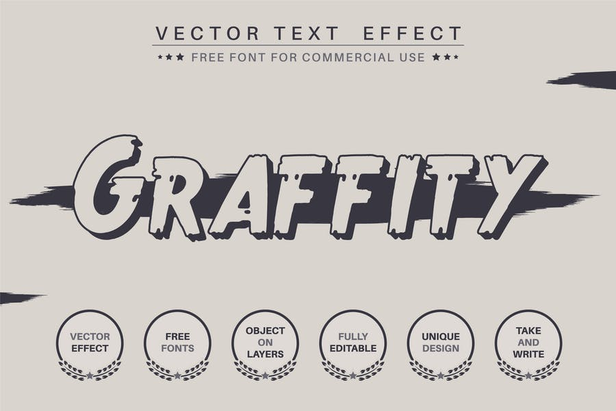 Dark Graffiti - editable text effect, font style