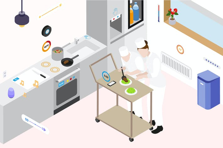 Thumbnail for Smartthings for Restaurant Stove Isometric