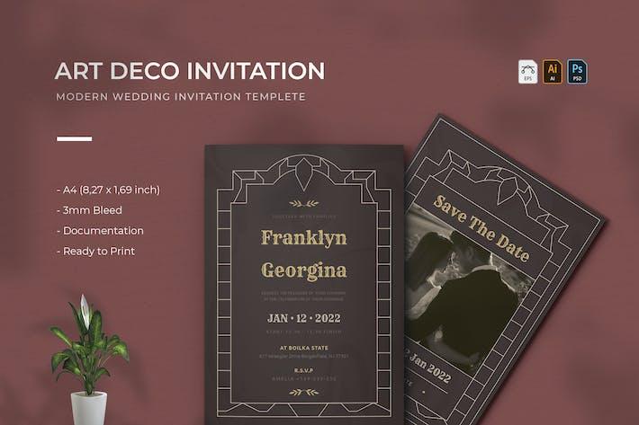 Art Deco Gioki | Wedding Invitation