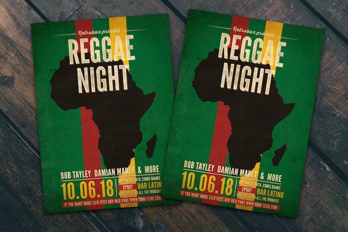Thumbnail for Reggae Night Flyer Poster