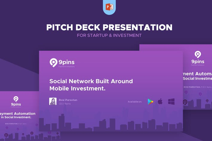Thumbnail for Fintech Startup Pitch Deck Presentation