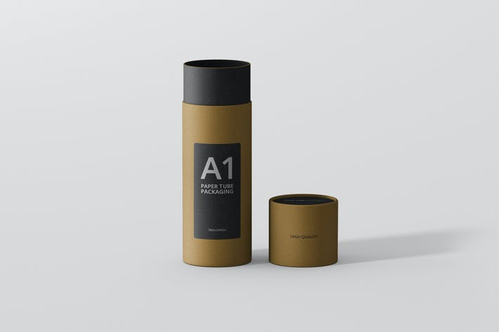 Thumbnail for Paper Tube Packaging Mockup - Slim