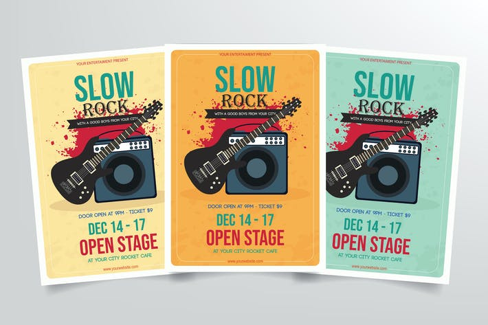 Thumbnail for Slow Rock Music Flyer Template