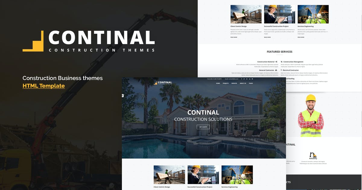 Continal - Construction Business HTML5 Template by ThemeModern