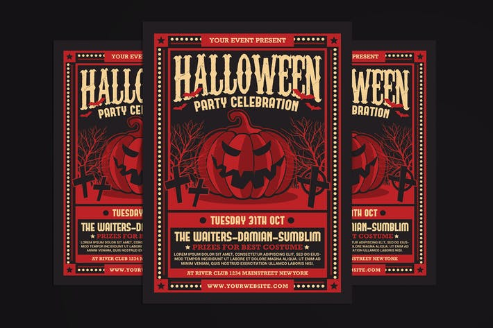 Thumbnail for Halloween Party Celebration Flyer