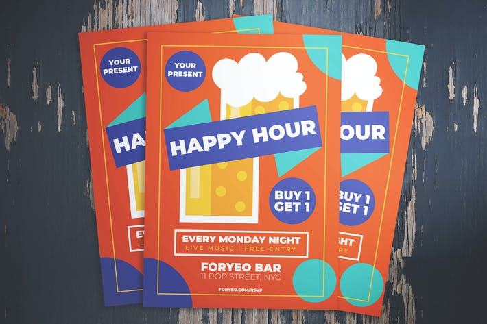 Thumbnail for Beer Happy Hour Flyer