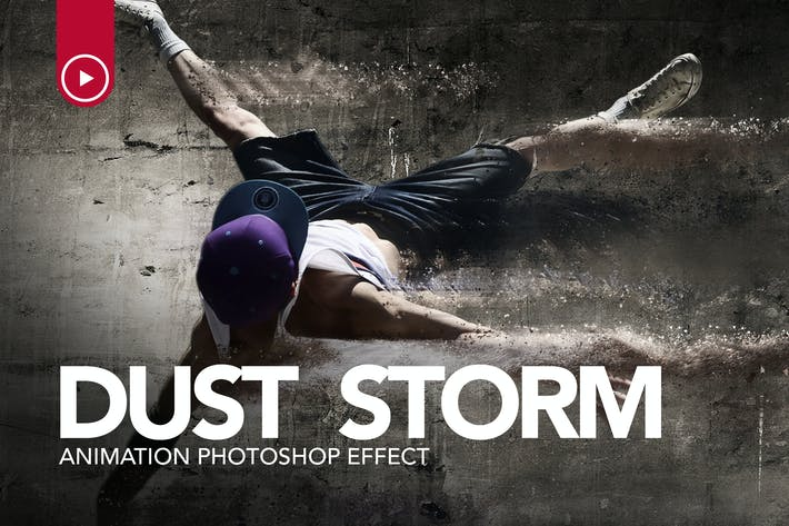 Thumbnail for Dust Storm Animation Photoshop Action