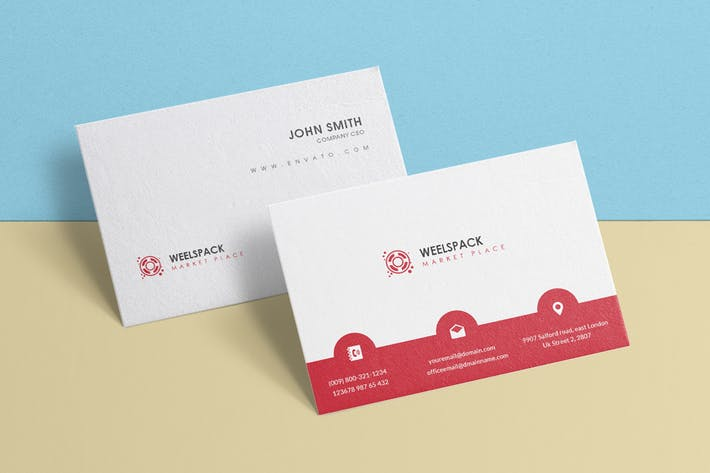 Download 6838 business card templates envato elements thumbnail for weelspack business card template accmission Choice Image