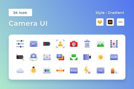 Camera UI Gradient Icon Set