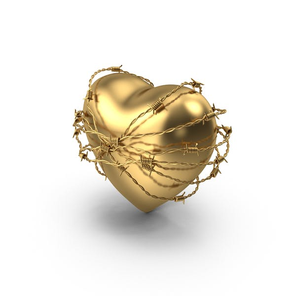 Golden Heart In Barbed Wire
