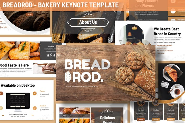 Thumbnail for Шаблон ключевых поKeynote для хлебобулочных изделий