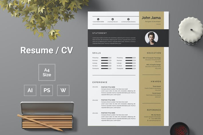 Thumbnail for Resume Template 162