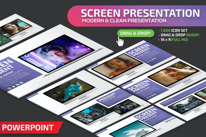 Thumbnail for Screen Powerpoint Presentation Template