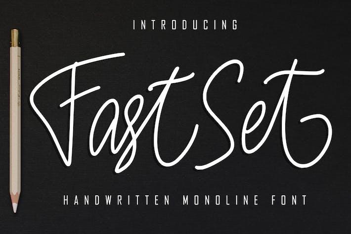 Thumbnail for Fuente Monolina manuscrita FastSet
