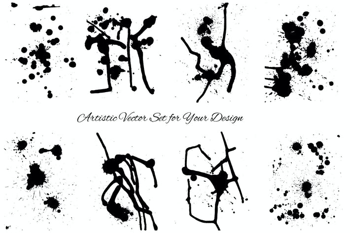 Thumbnail for Grunge Stains Vector Set