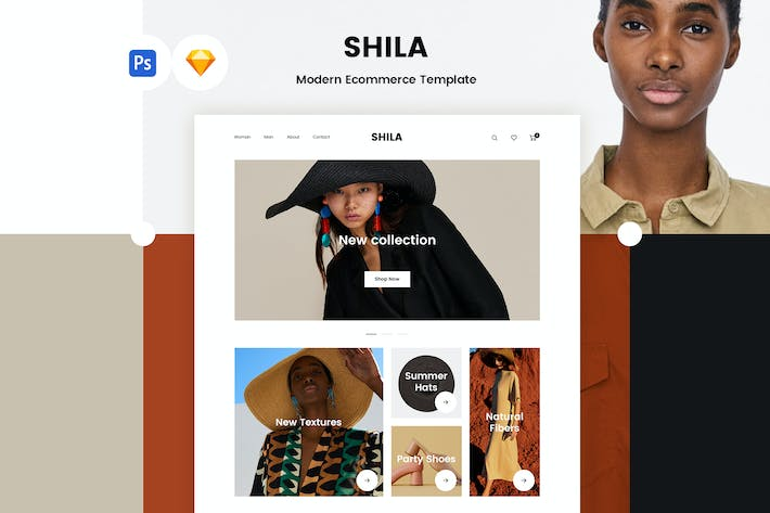 Thumbnail for Shila Ecommerce Template (PSD + Sketch)
