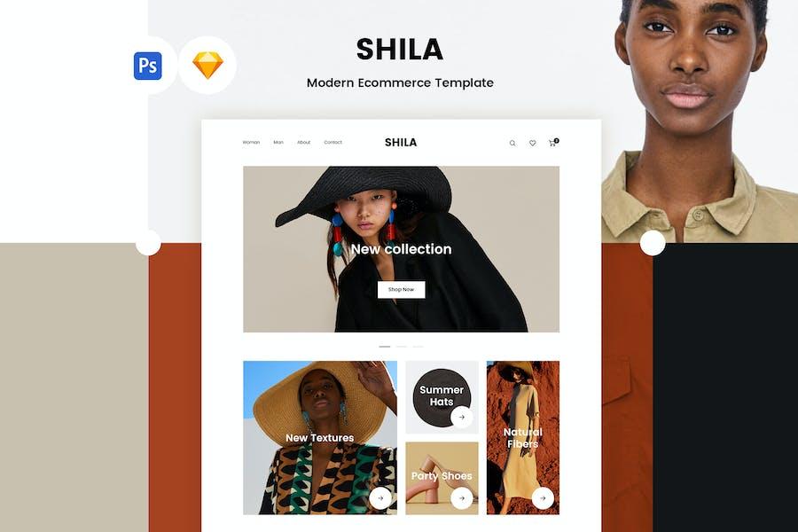 Shila Ecommerce Template (PSD + Sketch)