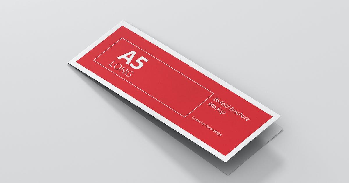 A5 Long Bi-Fold Brochure Mock-Up Landscape by visconbiz