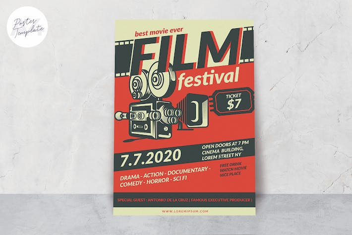 Thumbnail for Movie Festival Poster Template