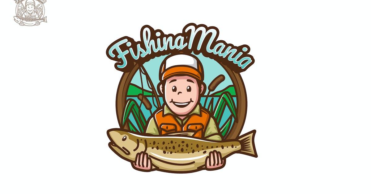 Download FishingMania - Mascot & Esport Logo by aqrstudio