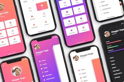 Menu - Mobile UI Kit for iPhone X
