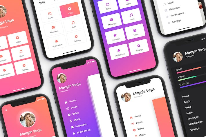 Thumbnail for Menu - Mobile UI Kit for iPhone X