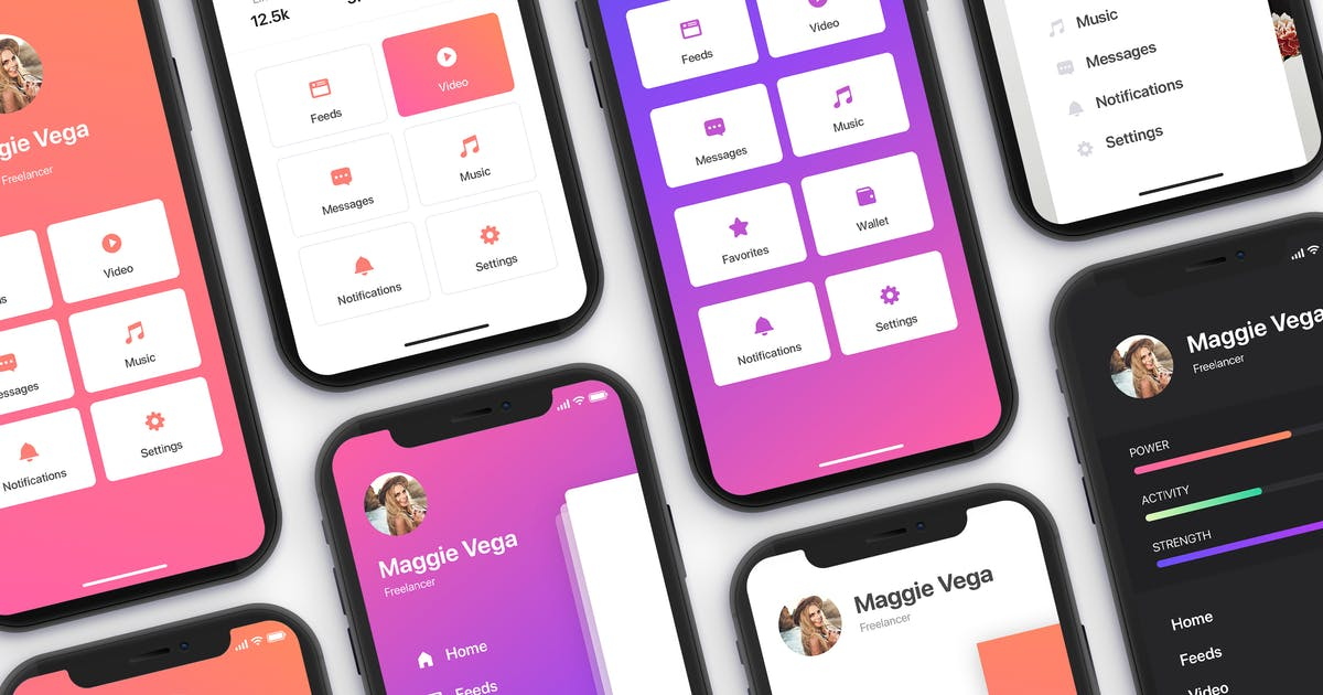 Download Menu - Mobile UI Kit for iPhone X by hoangpts