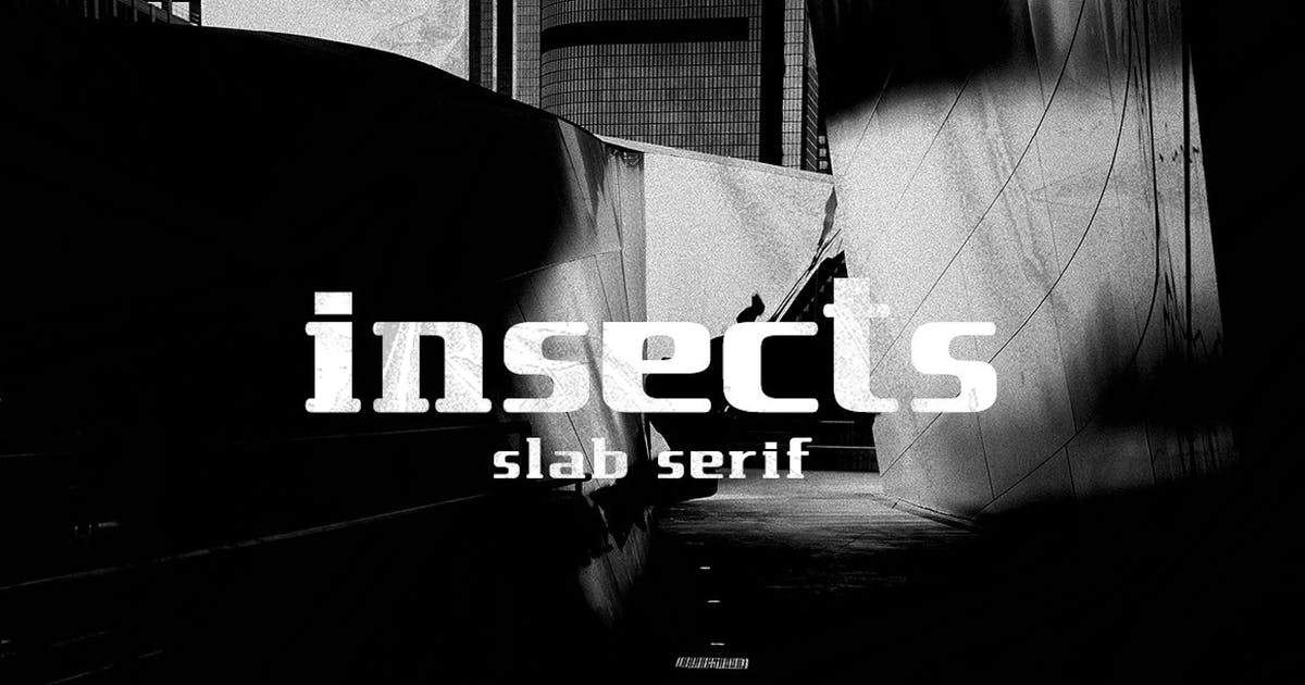 Download insect slab serif by Byulyayika