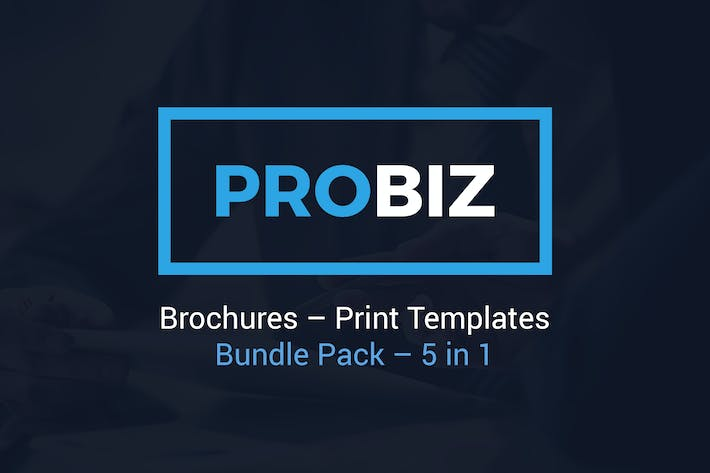 Thumbnail for ProBiz – Brochures Print Templates Bundle – 5 in 1