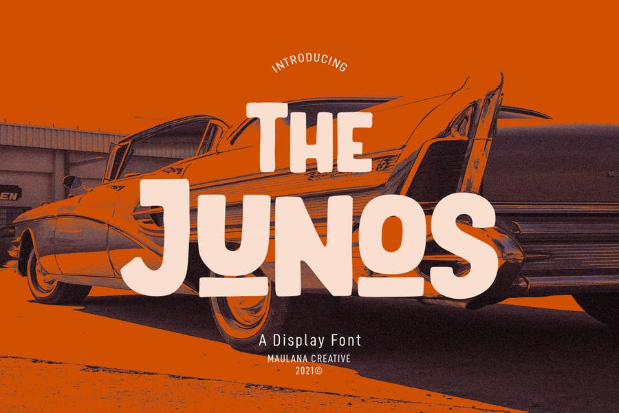 The Junos Display Font