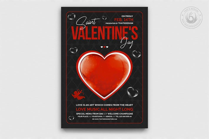 Thumbnail for Valentines Day Flyer Template V24