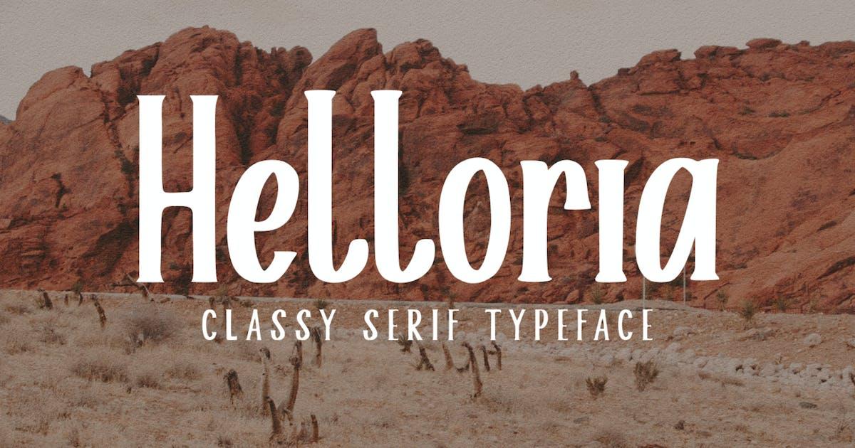 Download Helloria Classy Serif Typeface by TypotopiaCo