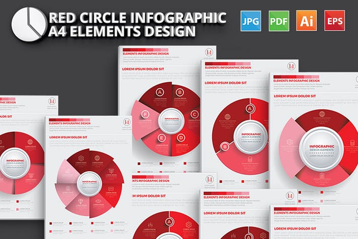 Thumbnail for Red Circle Infographic Design