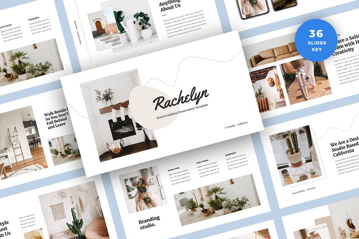 Thumbnail for Brand Guidelines Presentation Keynote Template