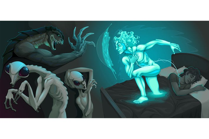 Thumbnail for Fighting Scene Between the Astral Body and Aliens